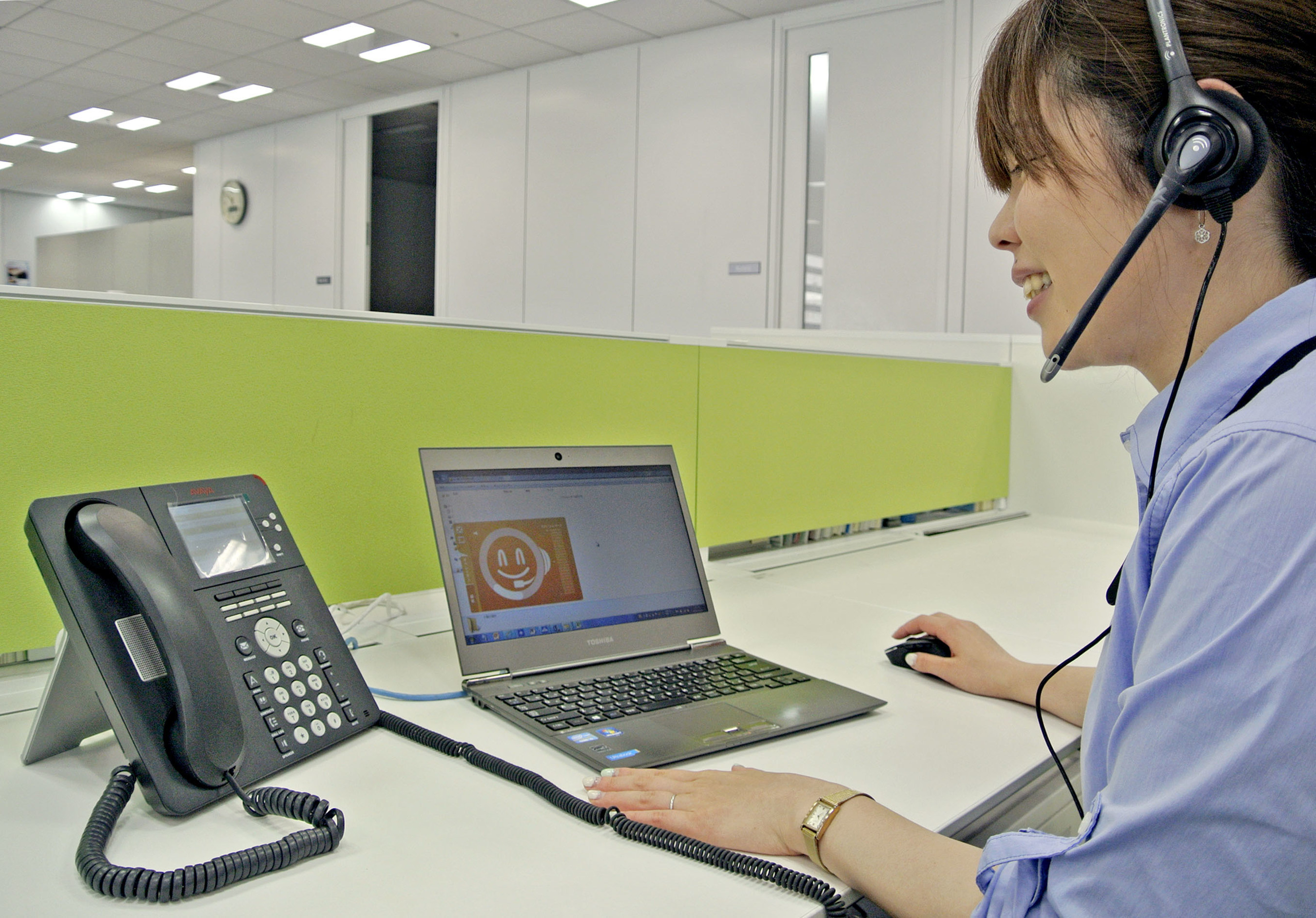 Smart Call Center System analyzes TSR's performance based on vocal emotion recognition.