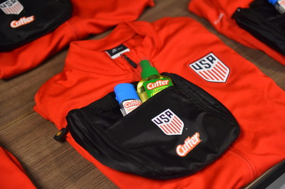 Cutter personal insect repellent kits were delivered to U.S. Soccer to help keep U.S. Women's National Team players heading to Rio and other Men's and Women's National Team players at all ages traveling across the world safe from mosquitoes.