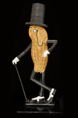 Early 20th century cast-iron Mr. Peanut figure arrives at the Smithsonian. (PRNewsFoto/Smithsonian's National Museum of American History) (PRNewsFoto/SMITHSONIAN'S NATIONAL MUSEUM...)