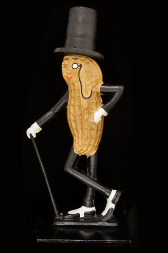 Early 20th century cast-iron Mr. Peanut figure arrives at the Smithsonian. (PRNewsFoto/Smithsonian's National Museum of American History)