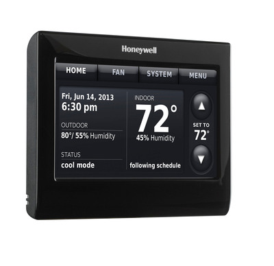 Today's programmable thermostats, like this soon to be released model from Honeywell, are easier than ever to program for money and energy savings.  (PRNewsFoto/Honeywell)