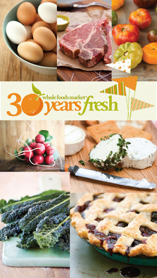 Whole Foods Market(R) Celebrates 30 Years of Organic Agriculture, Environmental Stewardship and Local Food. Austin, Texas.  (PRNewsFoto/Whole Foods Market)