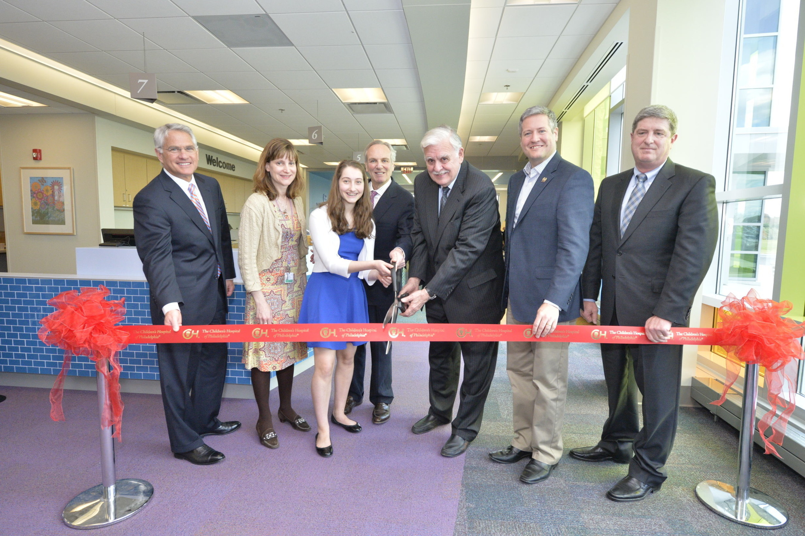 The children s hospital of philadelphia chop today celebrated the grand opening of a 25 000