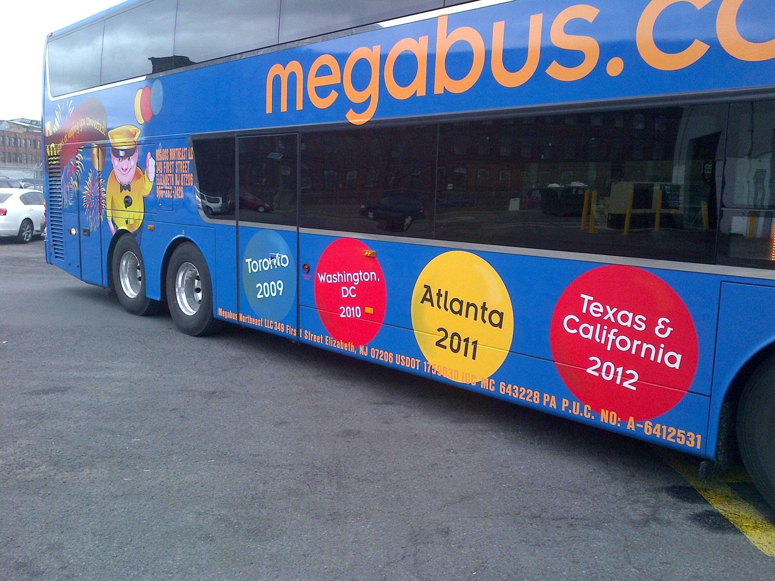 megabus.com Celebrates 10 Years of Ecofriendly Travel in the U.S.