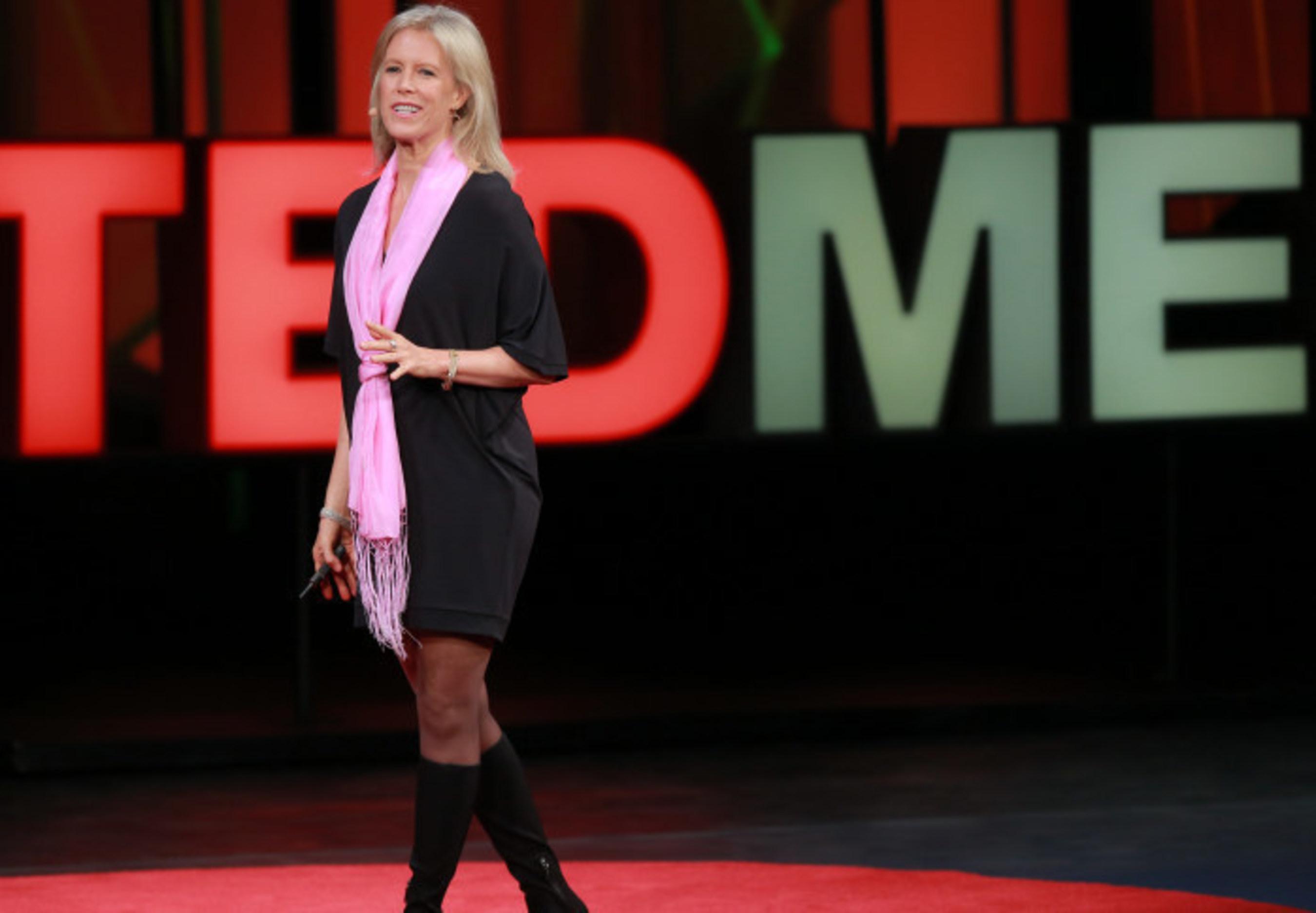 Leslie Morgan Steiner speaking at Ted Talks
