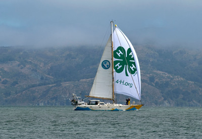 4-H Ocean Watch with Angel Island in the background off the San Francisco Bay.  (PRNewsFoto/National 4-H Council, Al Greening)