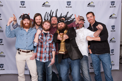 "Willie Robertson and the ""Buck Commander"" crew, winners of the Golden Moose Award for Fan Favorite Best Overall Series on Outdoor Channel. (PRNewsFoto/Outdoor Channel)"