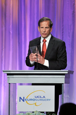 Dr. Richard Merkin, President and CEO, HPN, receives 2013 Medical Visionary Award from UCLA.  (PRNewsFoto/Heritage Provider Network, Inc., Vince Bucci)