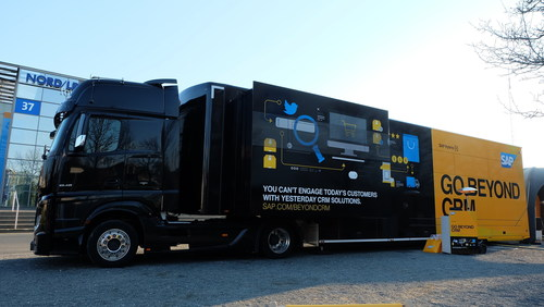 SAP Hybris Beyond CRM truck is travelling across Europe this Summer (PRNewsFoto/SAP Hybris)