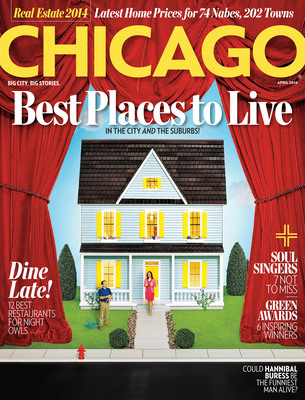 April Issue of Chicago magazine.  (PRNewsFoto/Chicago magazine)