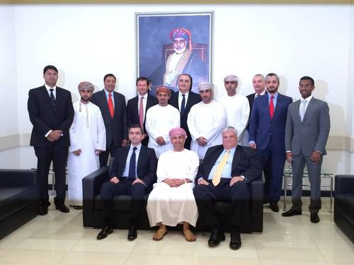 Executive Management from Greenstone, Tri-Star, OIF, and Castell convened in the Oman Investment Fund offices for the signing ceremony of the Shareholder Agreement. (PRNewsFoto/Greenstone Equity Partners)