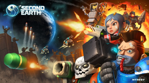 NTREEV SOFT'S SCI-FI STRATEGY GAME 'SECOND EARTH' NOW AVAILABLE FOR MOBILE DEVICES WORLDWIDE. (PRNewsFoto/NTREEV SOFT) (PRNewsFoto/NTREEV SOFT)