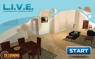 L.I.V.E. (Living Independent Virtual Environment) by Rutgers University & Designing Digitally, Inc.  (PRNewsFoto/Designing Digitally, Inc.)