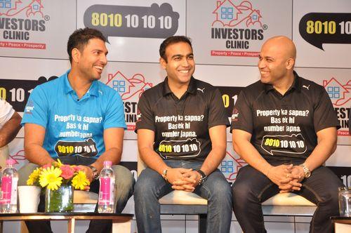 Yuvraj Singh Unveils Investors Clinic