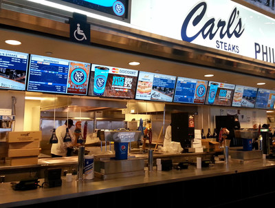 Visual Graphic Systems installs state-of-the-art digital menu board system at Yankee Stadium.