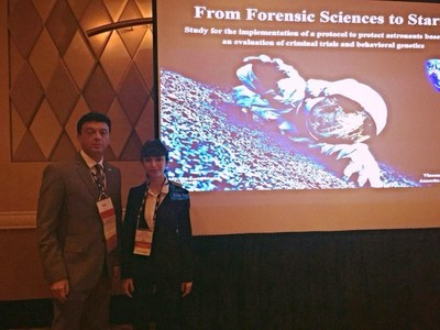 Vincenzo Lusa JD, Annarita Franza PhD, American Academy of Forensic Sciences, 68th Annual Meeting, Las Vegas (Nevada) (PRNewsFoto/US Academy of Forensic Science)