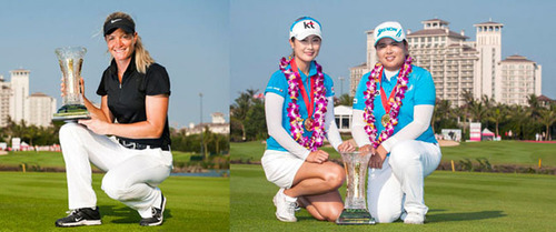 The Individual & Team winners at the World Ladies' Championship at Mission Hills Haikou.  ...