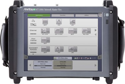 Anritsu MT1100A Network Master Flex Supports OTN, Ethernet, SDH/SONET, PDH/DSn and Fibre Channel.
