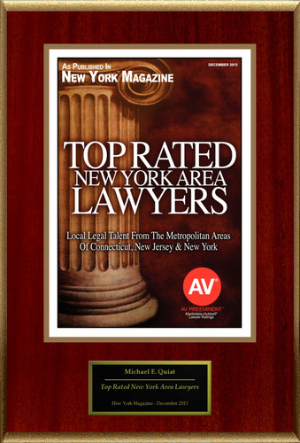 "Michael E. Quiat Selected For ""Top Rated New York Area Lawyers"".  (PRNewsFoto/American Registry)"