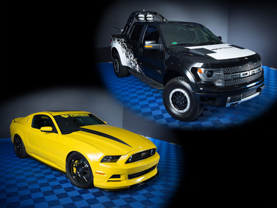"""The Ford Mustang and Ford F-Series are officially the """"Hottest Car and Truck"""" at the 2013 Specialty Equipment Market Association (SEMA) show. (PRNewsFoto/Ford Motor Company) (PRNewsFoto/FORD MOTOR COMPANY)"""