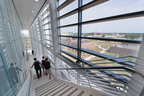 The new Rutgers Business School building provides students with an impressive corporate-like setting.  (PRNewsFoto/Rutgers Business School)