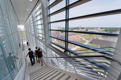 The new Rutgers Business School building provides students with an impressive corporate-like setting. (PRNewsFoto/Rutgers Business School) (PRNewsFoto/RUTGERS BUSINESS SCHOOL)