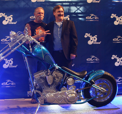 Michael J. Lindell and Paul Teutul Sr. of OCC Unveil MyPillow Chopper Orange County Choppers MyPillow