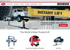 Rotary Lift's redesigned website includes more visuals and product information than before, with a cleaner, more organized layout.  (PRNewsFoto/Rotary Lift)