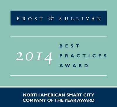 Frost & Sullivan Recognizes Itron with 2014 North American Smart City Company of the Year Award (PRNewsFoto/Frost & Sullivan)