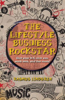 Cover for The Lifestyle Business Rockstar by Rasmus Lindgren.  (PRNewsFoto/Rasmus Lindgren)