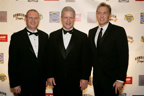 October 12, 2010 - (From right to left) Sam Champion, host of the Annual Skin Cancer Foundation Skin Sense Gala  ...