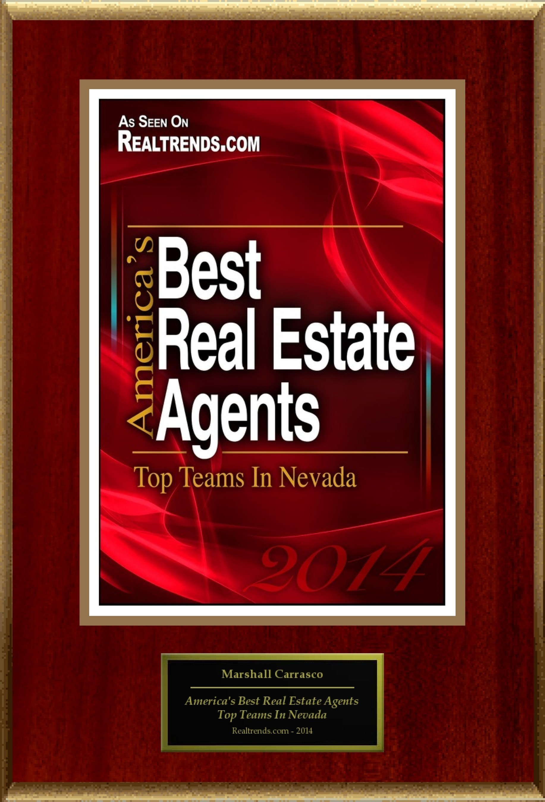 "Marshall Realty Selected For ""America's Best Real Estate Agents: Top Teams In Nevada"""
