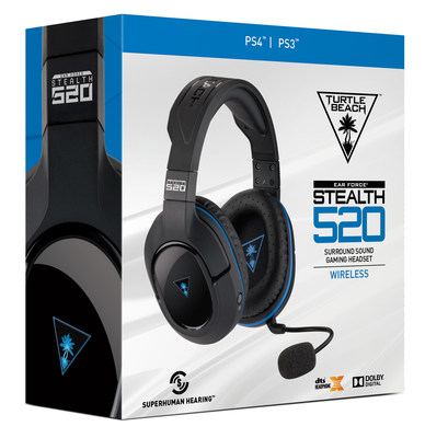 Turtle Beach's STEALTH 520 gaming headset is 100% wireless for PS4 and PS3, and includes DTS Headphone:X 7.1 Surround Sound, Superhuman Hearing, and a variety of additional features no gamer should be without. Available at participating retailers nationwide starting Sunday, October 2, 2016 for a MSRP of $129.95.