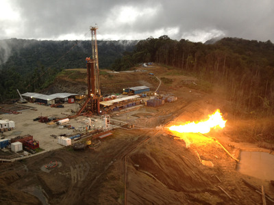 Triceratops-2 well DST#8 in Papua New Guinea.  (PRNewsFoto/InterOil Corporation)