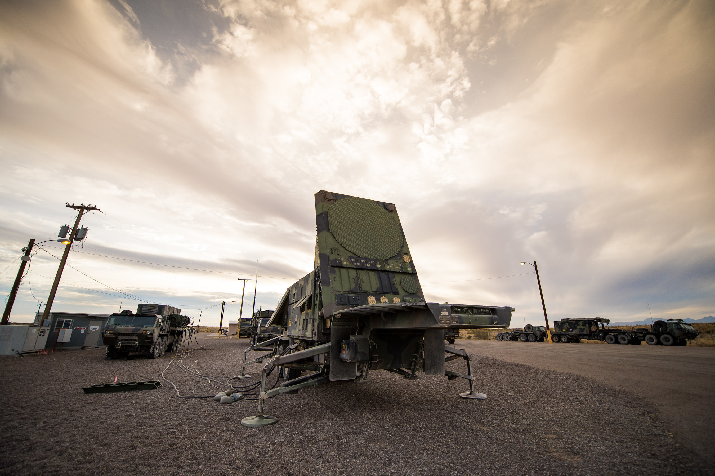 Patriot radar array.