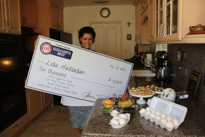 """Lidia Haddadian Wins Grand Prize in Eggland's Best 2014 """"Your Best Recipe"""" Contest"""