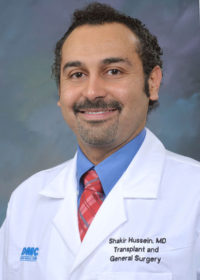Shakir Hussein, M.D. is a transplant surgeon at DMC Harper University Hospital, part of Detroit Medical Center. Hussein specializes in transplant surgery for adult and pediatric patients with special interests in laparoscopic robotic surgery and laparoscopic donor nephrectomy.     (PRNewsFoto/Detroit Medical Center)
