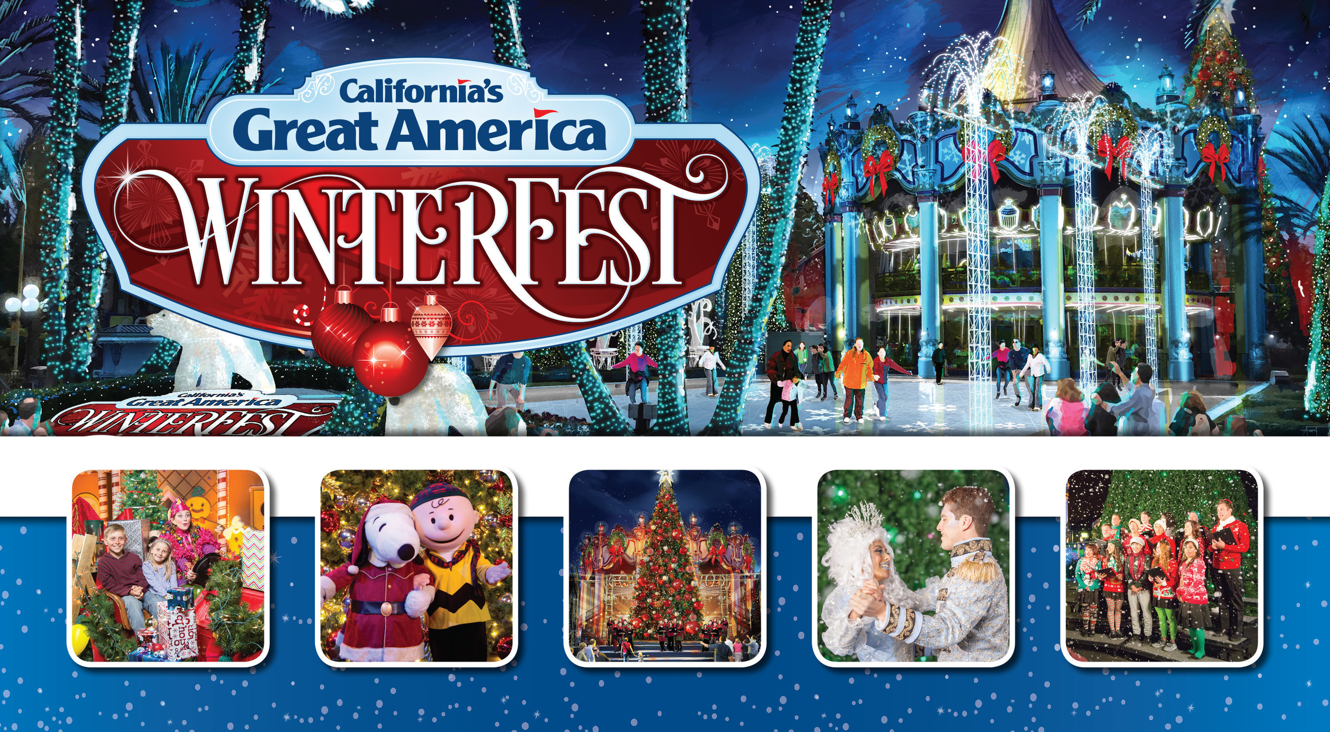 WinterFest at California's Great America in Santa Clara