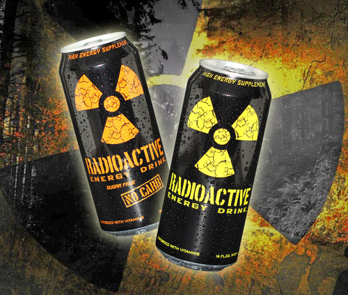 "Radioactive Energy Drink relaunches in ""glowing"" 16 oz. cans from Rexam.  (PRNewsFoto/Rexam)"