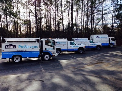 Lowe's has introduced ProExpress, an on-demand delivery service for professional customers. (PRNewsFoto/Lowe's Companies, Inc.)