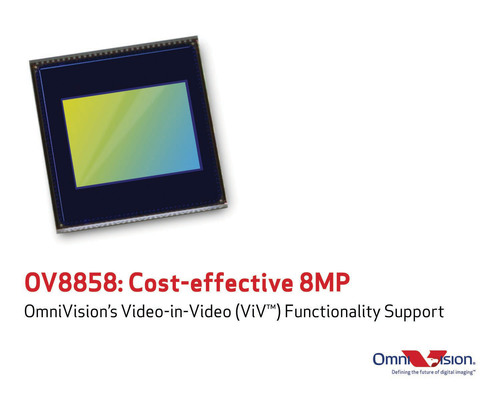 OV8858: Cost effective 8-megapixel camera solution for mobile devices.  (PRNewsFoto/OmniVision Technologies, Inc.)