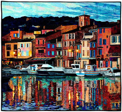 Port of Cassis - image.  (PRNewsFoto/National Quilt Museum)
