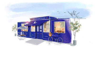 GREY GOOSE Boulangerie Bleue illustration by Sophie Griotto