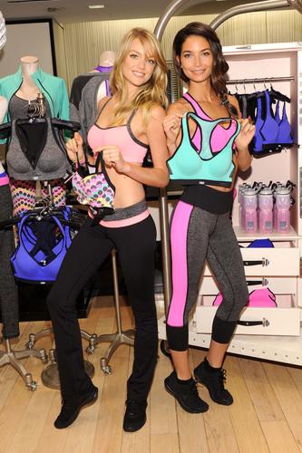 Victoria's Secret Angels Lily Aldridge and Lindsay Ellingson Celebrate The World's Best Sport Bras. ...