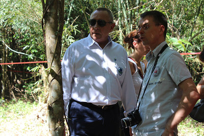 APC CEO Barry Rawlinson with Olivier Breda, Independent Consultant inspecting Agarwood Trees (PRNewsFoto/Asia Plantation Capital)