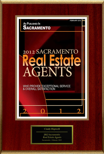 Cindy Hipwell Selected For '2012 Sacramento Real Estate Agents'