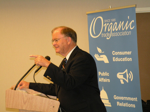 Congressman Sam Farr, speaking at the Organic Trade Association's 2011 Policy Conference.  (PRNewsFoto/Organic Trade Association)