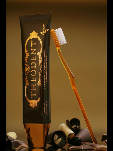 Theodent chocolate-based toothpaste wins prestigious Red Dot design award. Theodent is fluoride-free and its ...