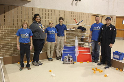 W.W. Lewis Middle School teams and the Sulphur High School Robotics Club with CITGO coaches Mike Gray and Randy Scott.