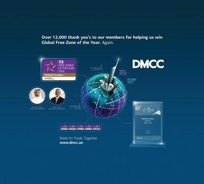 DMCC Global Free Zone of the Year Infographic. (PRNewsFoto/DMCC)